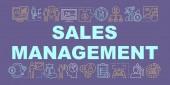 Sales management word concepts banner