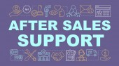 After sales support word concepts banner