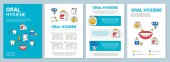 Oral hygiene brochure template layout
