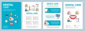 Dental care brochure template layout