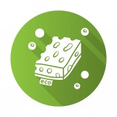 Eco sponges flat design long shadow glyph icon