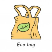 Eco bag color icon