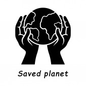 Saved planet glyph icon