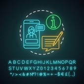 Trip advisor neon light concept icon