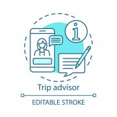 Trip advisor concept icon