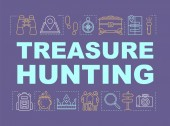 Treasure hunting word concepts banner Family time together Geo