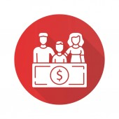 Family sponsorship immigration red flat design long shadow glyph