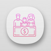 Family sponsorship immigration app icon Migration program Express entry Family trip vacation Travelling abroad UI/UX user interface Web or mobile applications Vector isolated illustrations