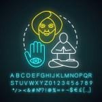 Ascetic lifestyle neon light concept icon. Severe ...