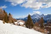 Monte Elmo, Dolomites, Italy - Mountain skiing and snowboarding. Sexten (Sesto), Trentino-Alto Adige, Puster Valley (Alta Pusteria), South Tyrol.