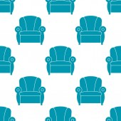 Icon recliner Chair with armrests seamless pattern Vector illustration