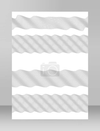 Photo for Design elements. Wave of many gray lines. Abstract wavy stripes on white background isolated. Creative line art. Vector illustration EPS 10. Colourful shiny waves with lines created using Blend Tool - Royalty Free Image