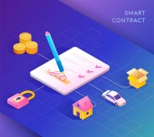 Smart contract concept illustration