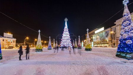 The Central city Christmas tree at the liberty squ...