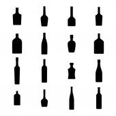 Alcohol bottles icons set vector illustration