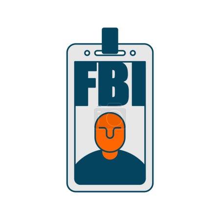 Illustration pour Insigne du FBI isolé. Bureau fédéral d'enquête sig - image libre de droit