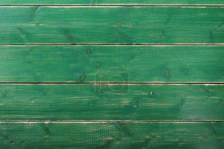 Photo pour Vieille surface de fond de planche de bois de peinture verte vintage - image libre de droit