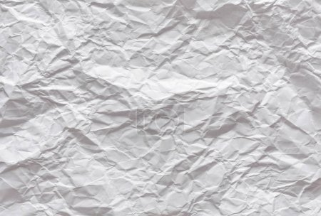 Photo pour Feuille froissée de papier blanc texture de fond - image libre de droit