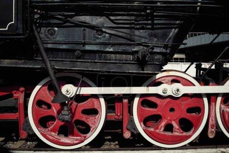 old  locomotive  train     at station