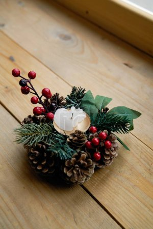 Photo pour Vue de plan rapproché de la belle décoration de Noel - image libre de droit