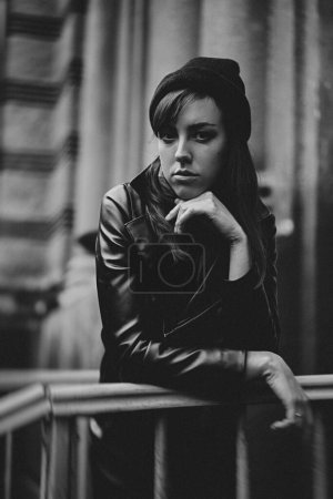 Photo for Fashion shot of beautiful young woman outdoors - Royalty Free Image