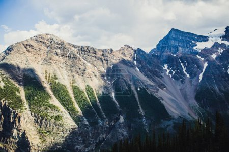 Hiking in summer ANature of Rocky mountains, Lake Louise, Banff, Canada