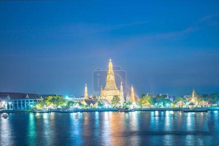 Photo for Wat phra kaew temple at night landmark in Bangkok, Thailand. - Royalty Free Image
