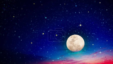 Photo for Stars in the night sky. Abstract space background. Full moon and star sky. - Royalty Free Image