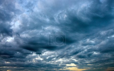 Photo for Dramatic sky with big gray clouds . - Royalty Free Image