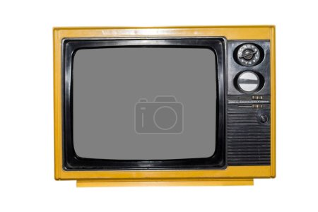 Photo for Vintage old television isolated on white background - Royalty Free Image