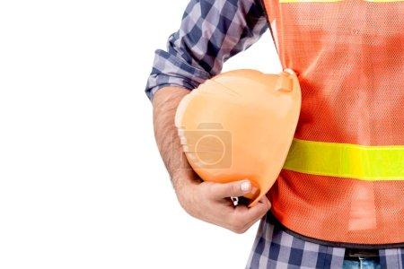 Photo pour L'ingénierie et un casque de sécurité isolé sur fond blanc - image libre de droit