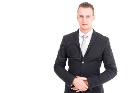 Photo for Portrait of businessman with arms crossed isolated on white background - Royalty Free Image
