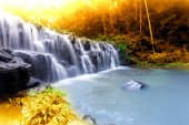 Landscape photo, Huay Mae Kamin Waterfall,Amazing waterfall in wonderful autumn forest, beautiful waterfall in rainforest at Kanchanaburi province, Thailand