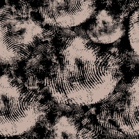seamless texture with black fingerprints on beige background. Actually as a background to the criminalistics, fingerprinting, detectives themes