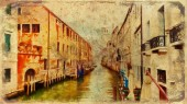 Romantic scenery of Venice, Italy. Computer painting
