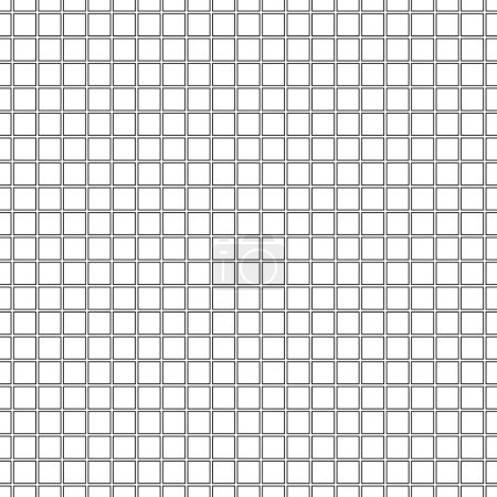 Seamless black and white gridded background. Vector eps10