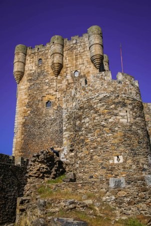 Image of ruins of old castle in Monleon, Castilla y Leon in Spain