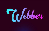 Webber pink word text logo icon design for typography