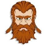 Scandinavian god of thunder and storm. Hand drawin...