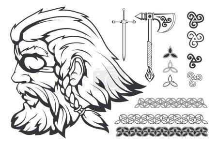 Scandinavian supreme god of Norse mythology - Odin...