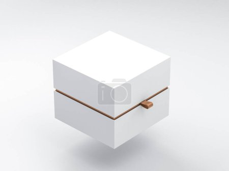 Photo for White Box packaging Mockup Half Side View, - Royalty Free Image
