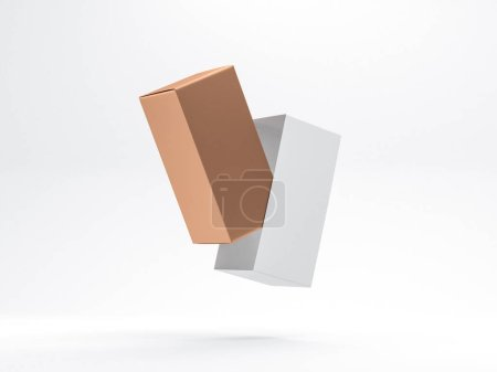 Photo for Cardboard package isolated on white background - Royalty Free Image