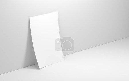 texture de papier blanc vierge sur le fond