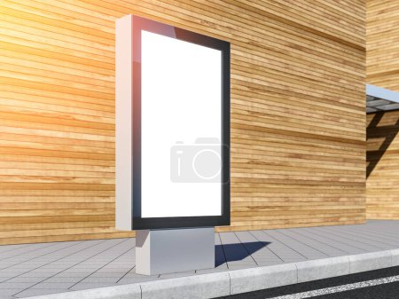 Lightbox Mockup with blank screen, 3d model