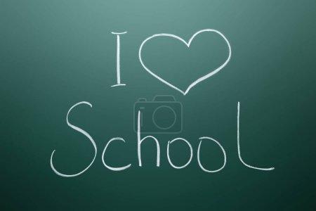Photo for Inscription I Love School on chalkboard - Royalty Free Image