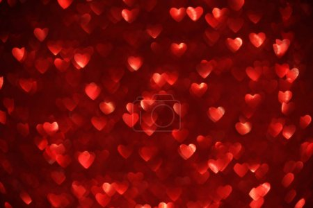Photo for Beautiful red heart bokeh background - Royalty Free Image