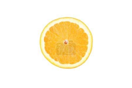 Photo pour Morceau de fruit orange isolé sur fond blanc - image libre de droit