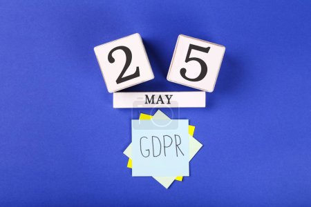 Photo for General Data Protection Regulation, GDPR with cube calendar - Royalty Free Image