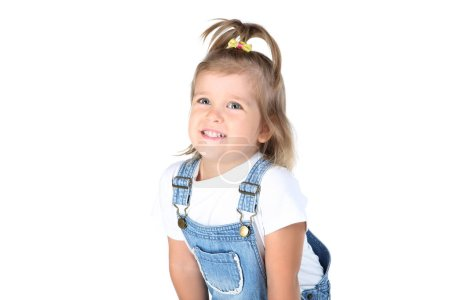 Photo for Cute little girl on white background - Royalty Free Image
