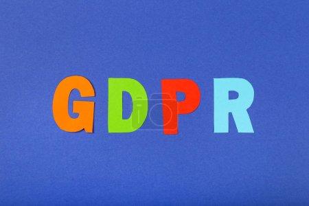 Foto de Reglamento General de Protección de Datos, Gdpr sobre fondo azul - Imagen libre de derechos